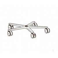 Kast accessoires - Ergotron - Gegoten systeembasis - zwart - voor Mobile WorkStand - 33-061