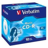 Desktops - AboutBatteries Verbatim Live It! - 10 x CD-R (80 min.) 16x - jewel case - 43365