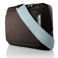 Notebook tassen - Belkin 17 MESSENGER BAG CHOCOLATE/TOURMALINE - F8N051EARL