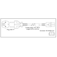 Elektriciteitssnoeren - Cisco 7500 Series AC Power Cord, Europe - CAB-7KACE=