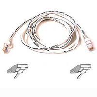 Kabels - Belkin Cable/patch CAT5 RJ45 snagless 0.5mWhite - A3L791B50CM-WHS