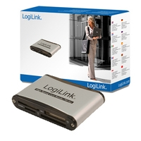 Geheugenkaartlezers - LogiLink USB 56in1 met SD HC extern - CR0001B