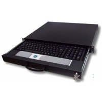 "Rack monitor consoles - aixcase Rack keyboard shelf black, 19"" - AIX-19K1U-B"