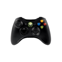 Joysticks en gamepads - Microsoft Xbox 360 Wireless Controller for Windows - Spelpad - 16 knoppen - draadloos - zwart - voor PC, Microsoft Xbox 360 - JR9-00010
