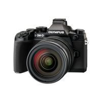 Digitale fotocameras - Olympus E-M1 Body 16 Mpix Zwart Kit Incl. EZ-M1240 PRO Zwart - V207017BE000